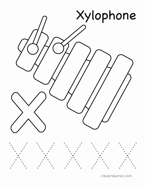 Printable Letter X Worksheets for Preschoolers Best Of Letter X Writing and Coloring Sheet