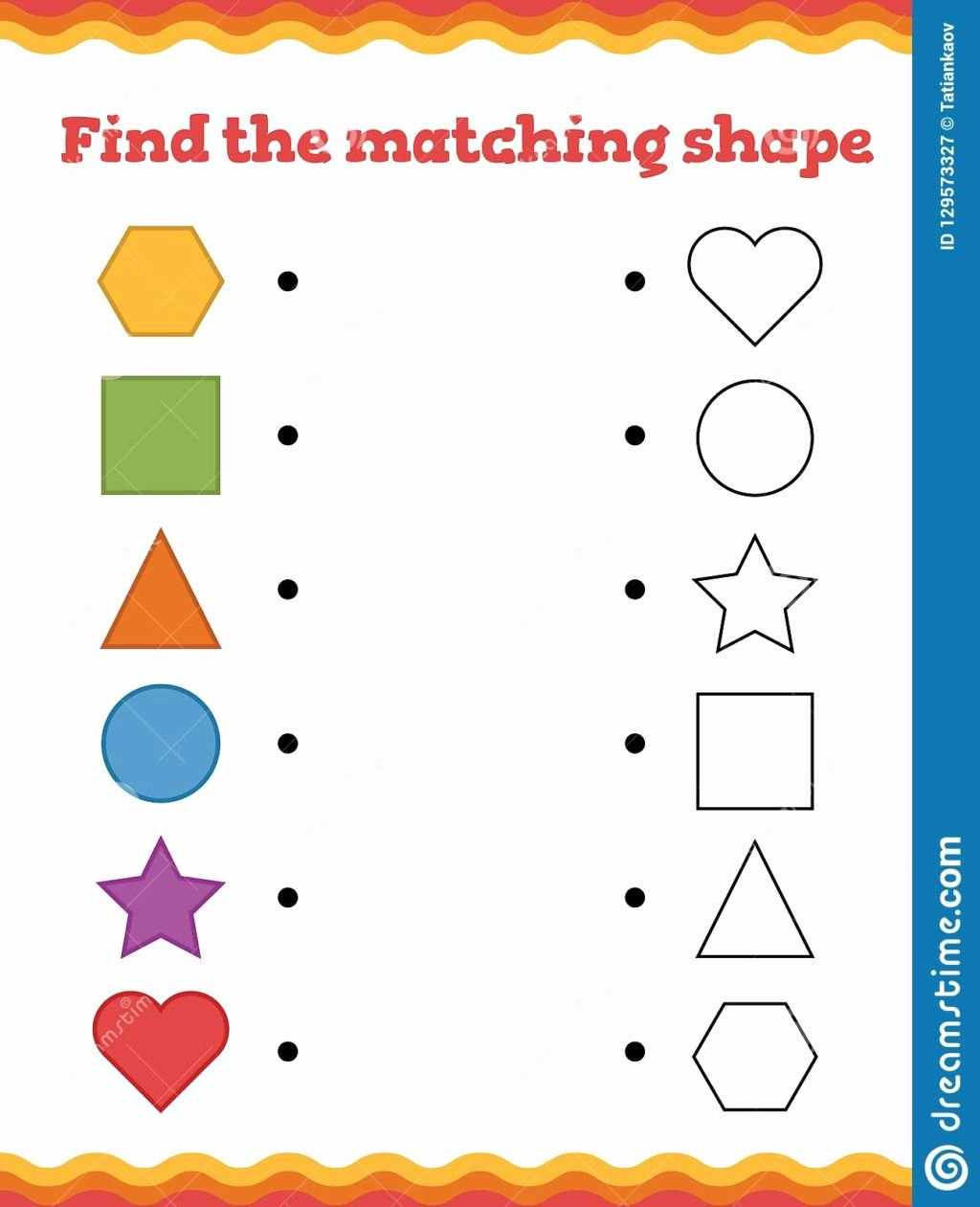 Printable Matching Worksheets for Preschoolers top Worksheet Math Kindergarten Matching Worksheets for