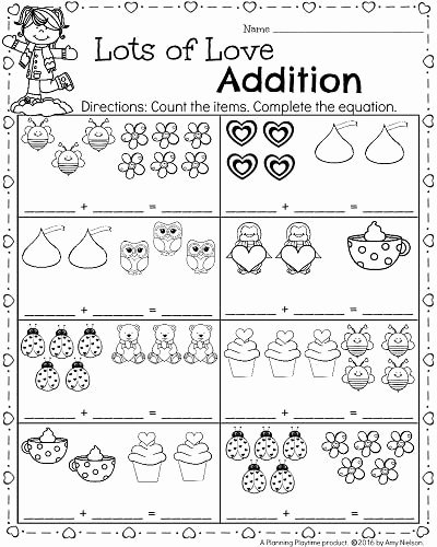 Printable Math Worksheets for Preschoolers Inspirational Kindergarten Math and Literacy Worksheets for February