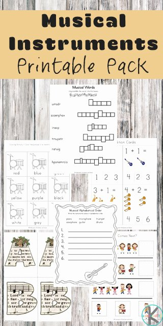 Printable Music Worksheets for Preschoolers Ideas Free Musical Instruments Worksheets