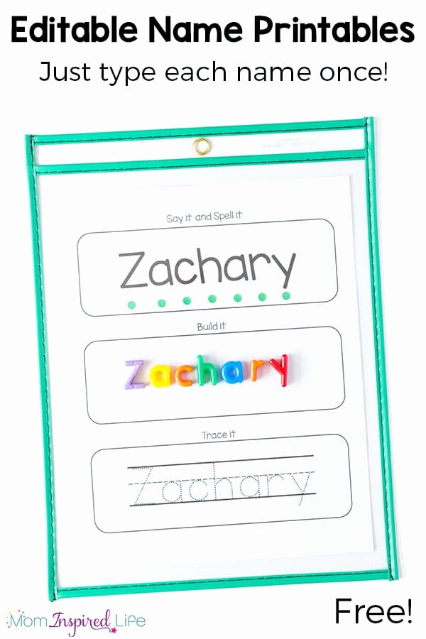 Printable Name Tracing Worksheets for Preschoolers Free Free Editable Name Tracing Printable Worksheets for Name