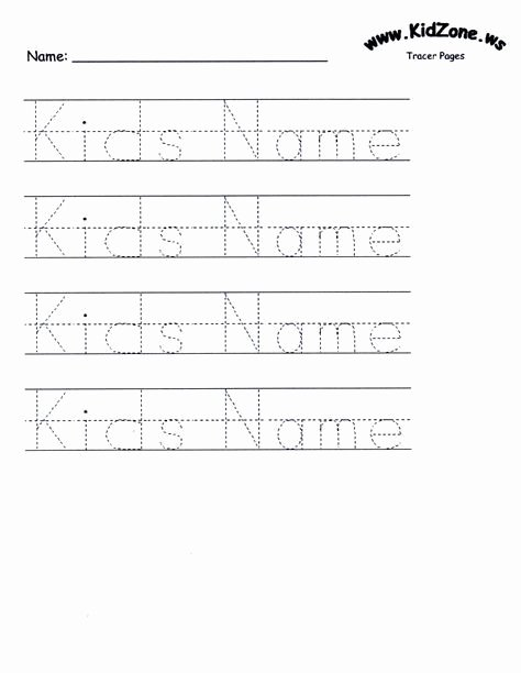 Printable Name Tracing Worksheets for Preschoolers Ideas Customizable Printable Letter Pages