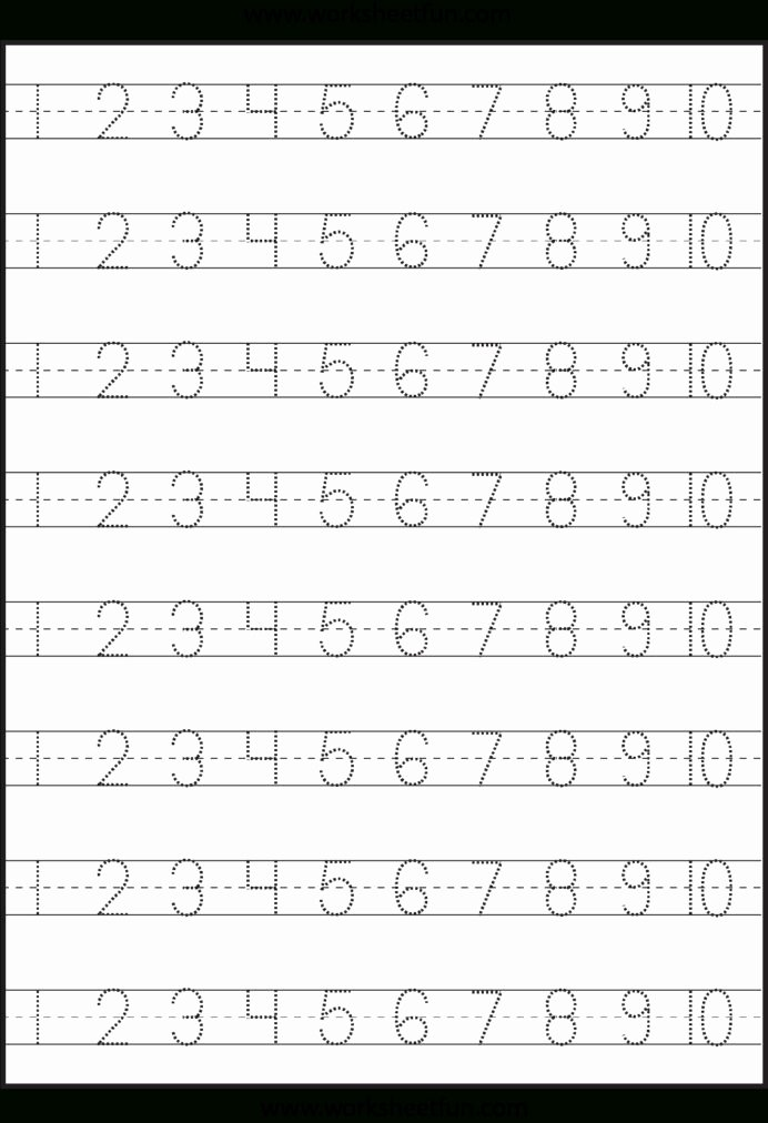 Printable Numbers Worksheets for Preschoolers Best Of Number Tracing Worksheet Generator Printable Numbers to