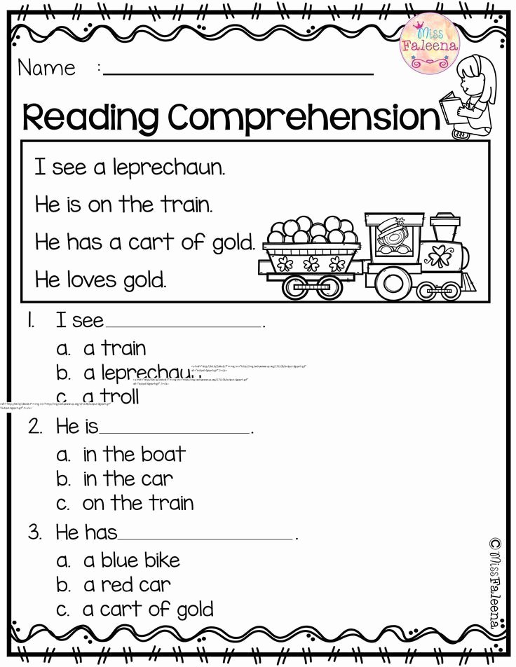 Printable Reading Worksheets for Preschoolers Ideas March Reading Prehension is Suitable for Kindergarten