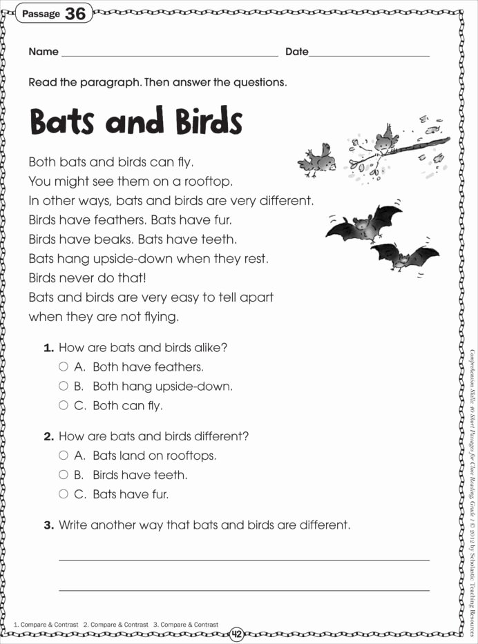 Printable Reading Worksheets for Preschoolers Printable Free Printable Reading Prehension Worksheets for