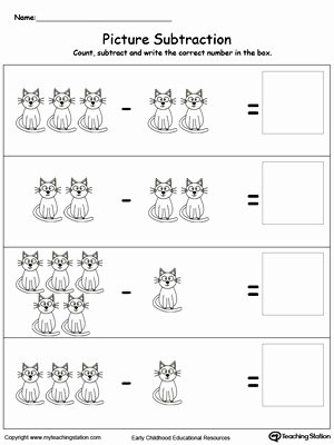 Printable Subtraction Worksheets for Preschoolers Ideas Preschool Subtraction Printable Worksheets