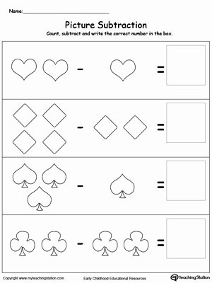 Printable Subtraction Worksheets for Preschoolers Lovely Preschool Subtraction Printable Worksheets