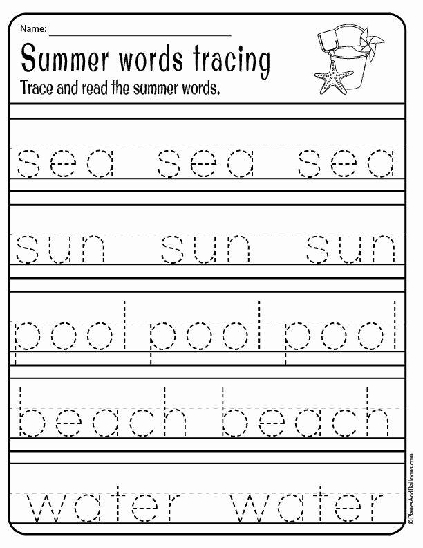 Printable Summer Worksheets for Preschoolers Best Of Kindergarten Summer Worksheets Free Printable Pdf