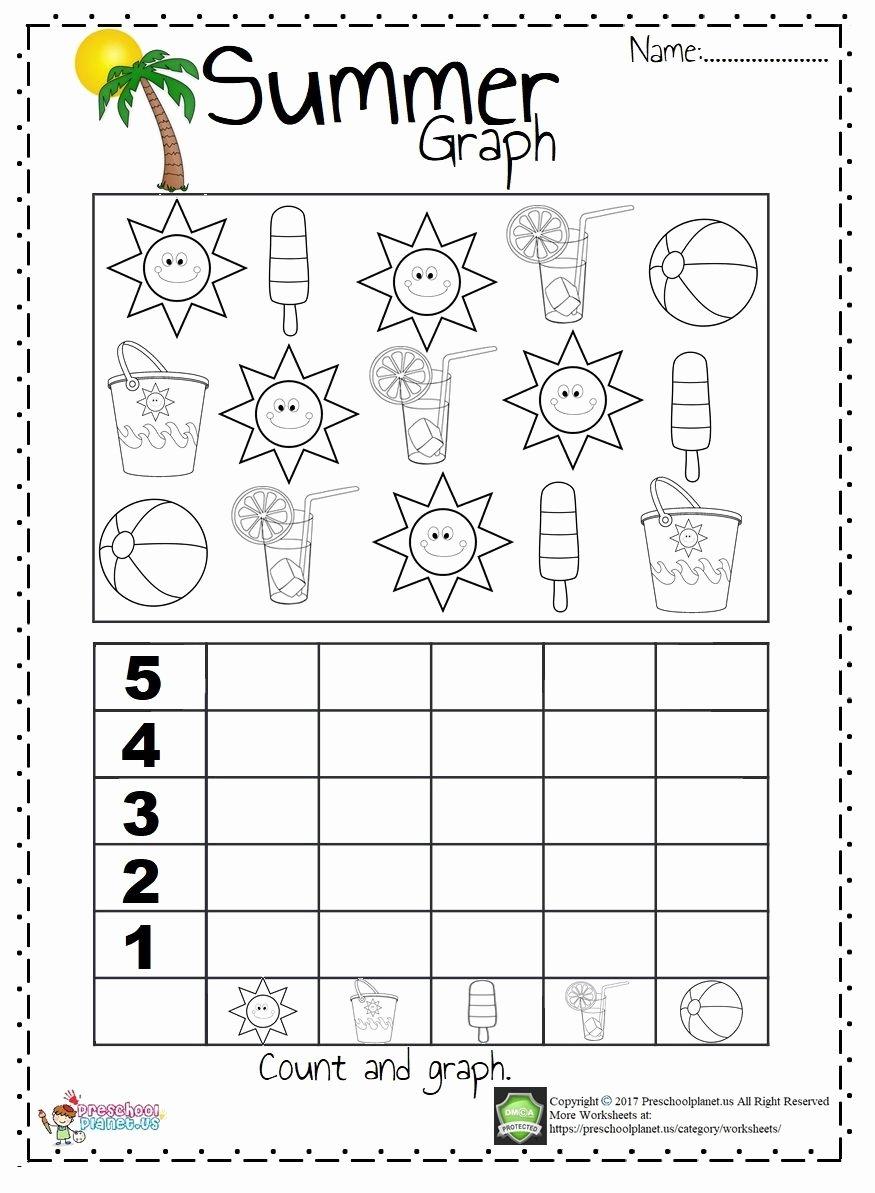 Printable Summer Worksheets for Preschoolers Printable Summer Graph Worksheet