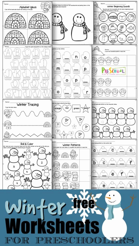 Printable Winter Worksheets for Preschoolers Free Winter Worksheets for Preschool