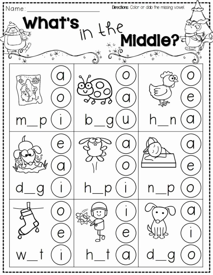 Printable Winter Worksheets for Preschoolers top Winter Activities for Kindergarten Free Phonics themed