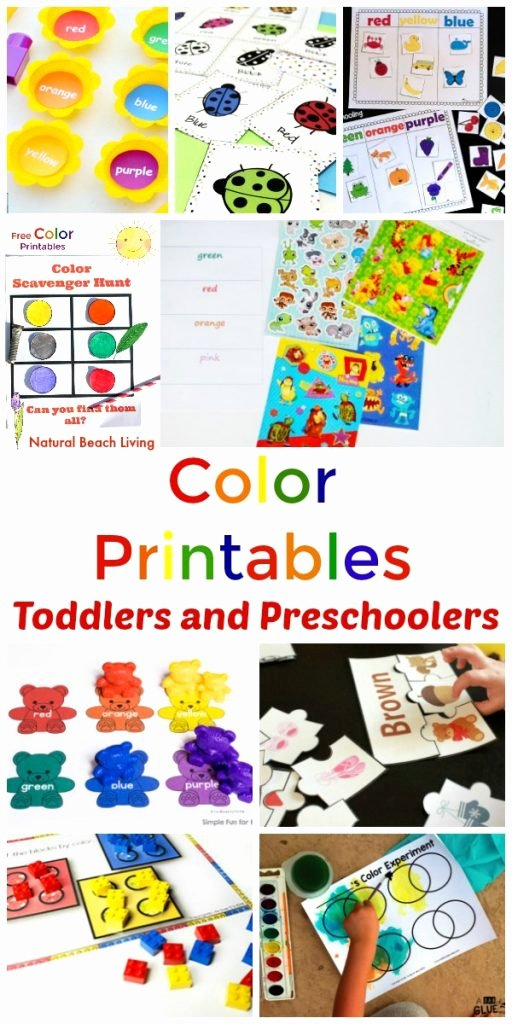 Printable Worksheets for Preschoolers Colors Ideas 25 Preschool Color Activities Printables Learning Colors