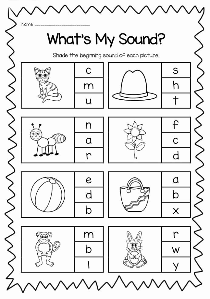 Printable Worksheets for Preschoolers Free Beginning sounds Printable Worksheet Pack Kindergarten