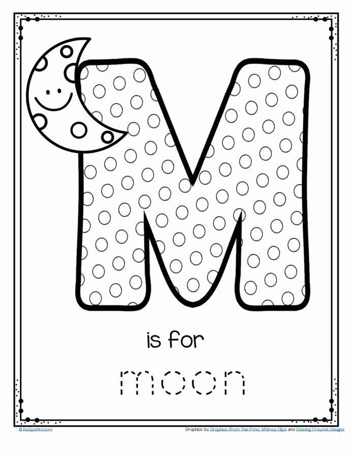 Printable Worksheets for Preschoolers Free Kids Free is for Moon Alphabet Letter Printable Writing