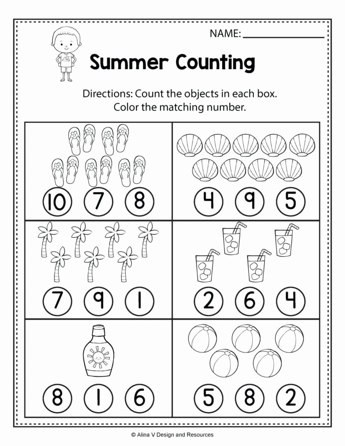 Printable Worksheets for Preschoolers Numbers Kids Color Worksheets for toddlers Printable Preschool Number