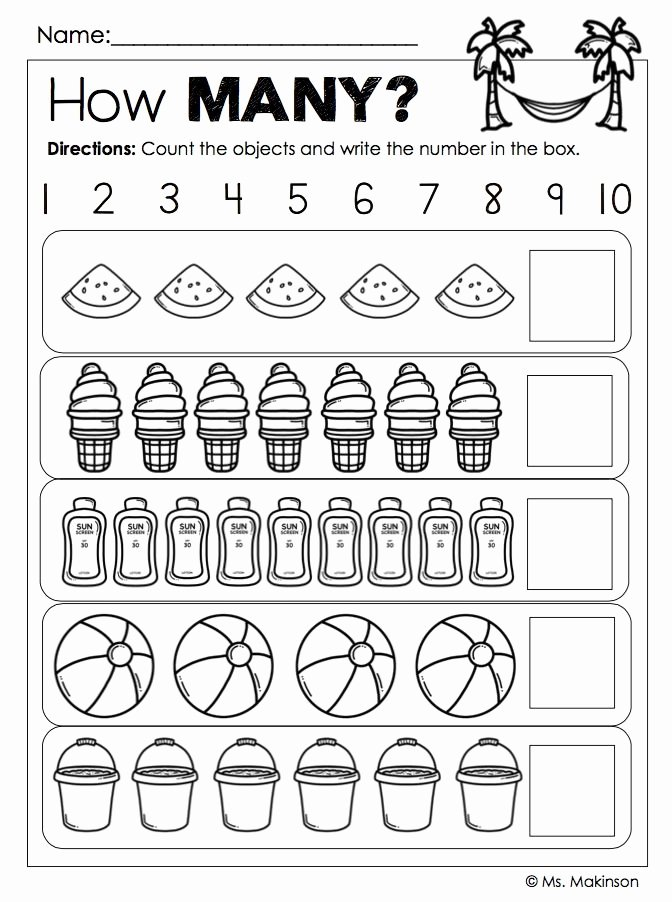 Printable Worksheets for Preschoolers Numbers Lovely End Of the Year Activities