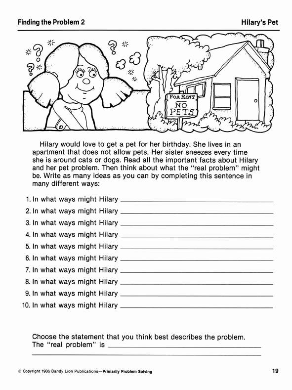 Problem solving Worksheets for Preschoolers top Primarily Problem solving Creative Problem solving