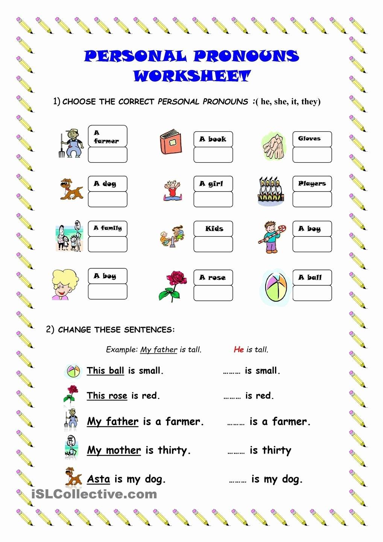 Pronoun Worksheets for Preschoolers Free Practice Gaspartutor
