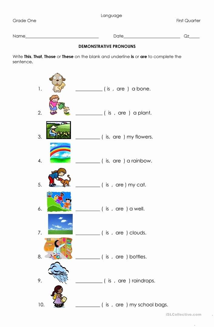 Pronoun Worksheets for Preschoolers Fresh Demonstrative Pronouns