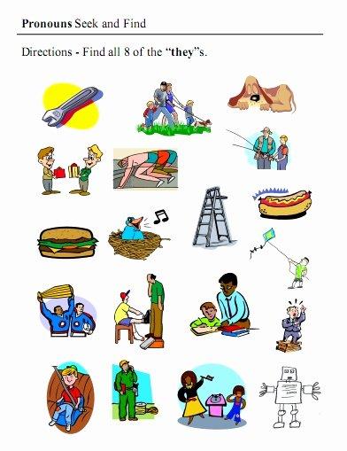 Pronoun Worksheets for Preschoolers Lovely Pronouns