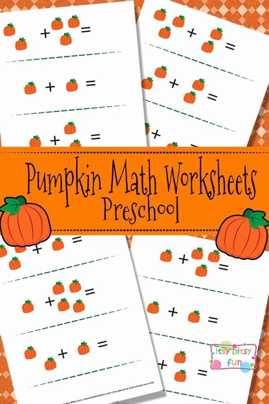 Pumpkin Math Worksheets for Preschoolers Ideas Pumpkin Math Worksheets for Preschool Itsybitsyfun