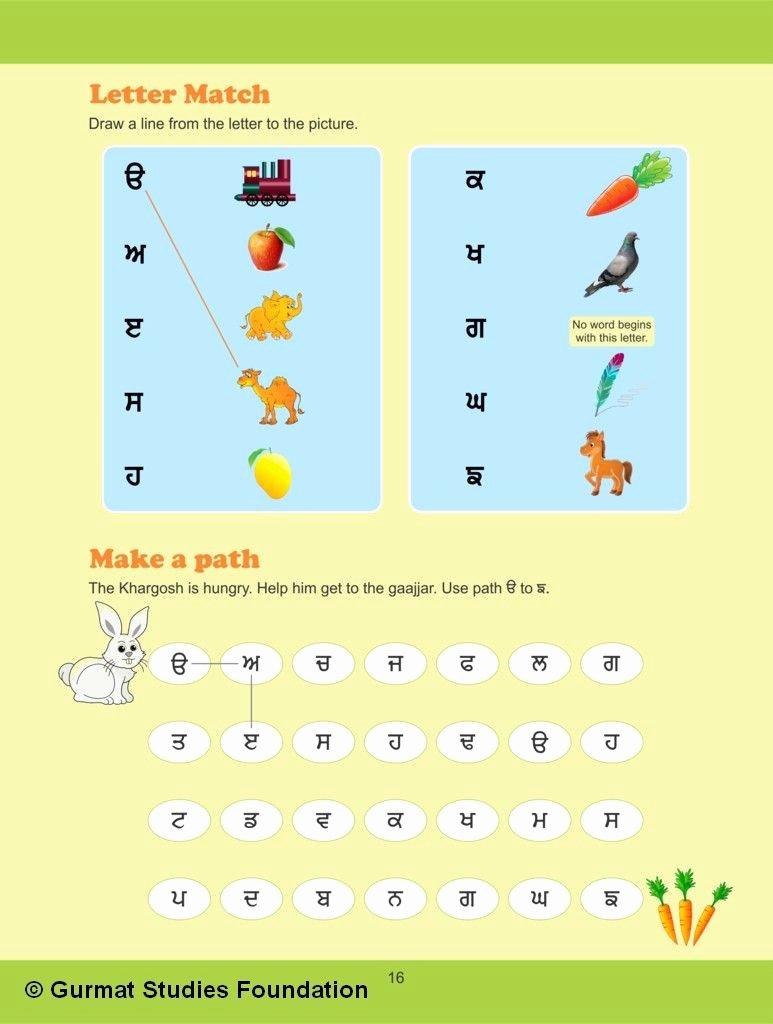Punjabi Worksheets for Preschoolers New Punjabi Worksheets for Class 1