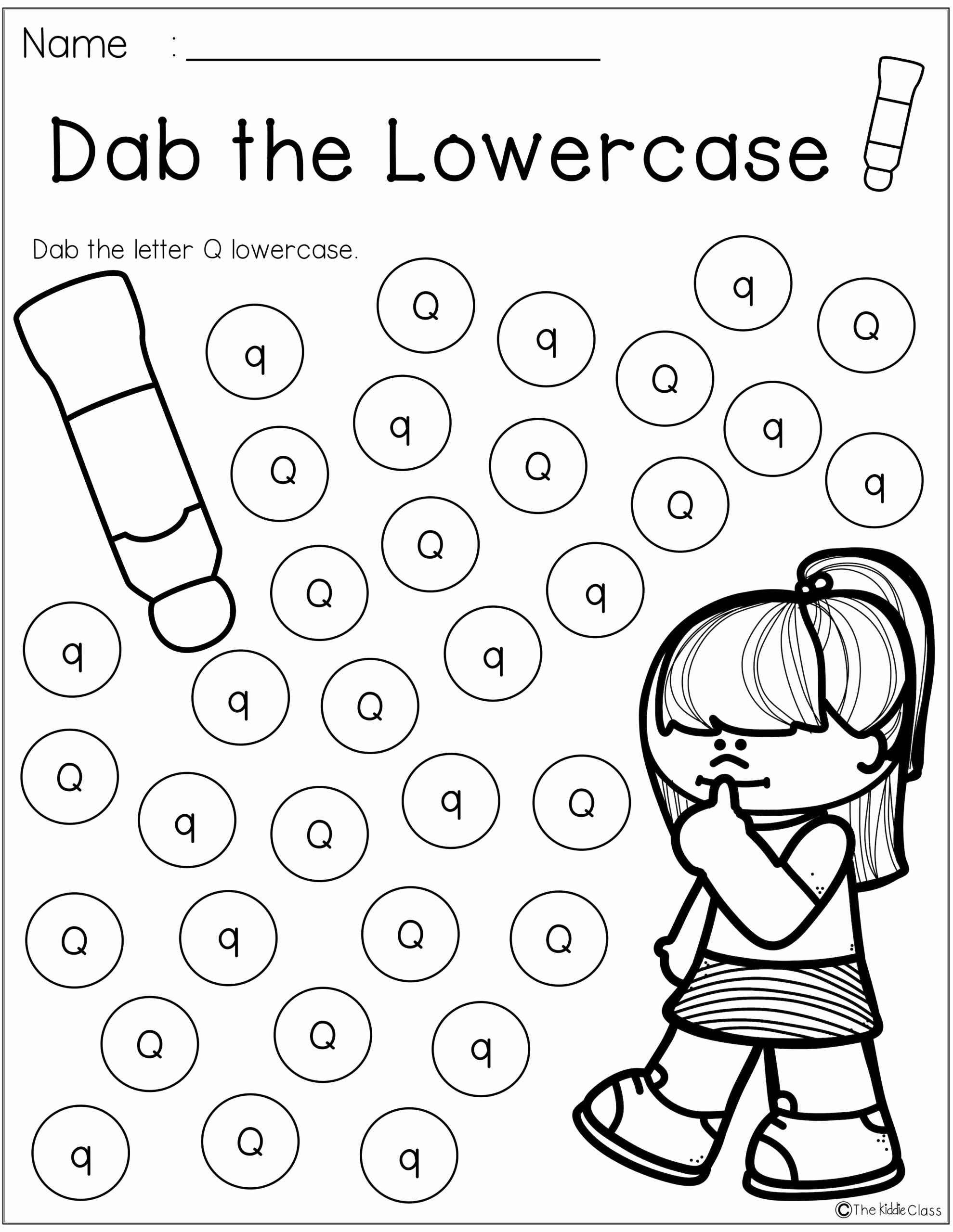 Q Worksheets for Preschoolers Lovely Worksheets Letter the Week Teaching First Grade