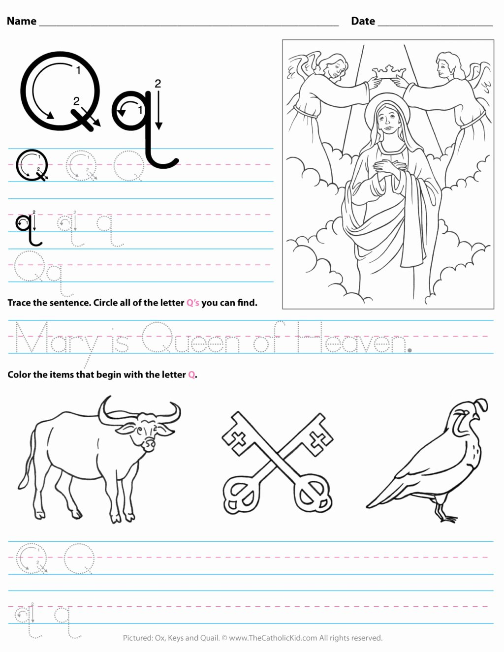 Q Worksheets for Preschoolers Printable Worksheet Working Sheets forolers Image Inspirations