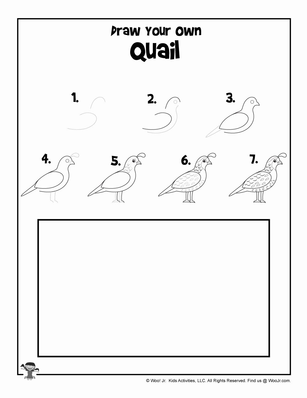 Quail Worksheets for Preschoolers Free Quail Step by Step Drawing Tutorial