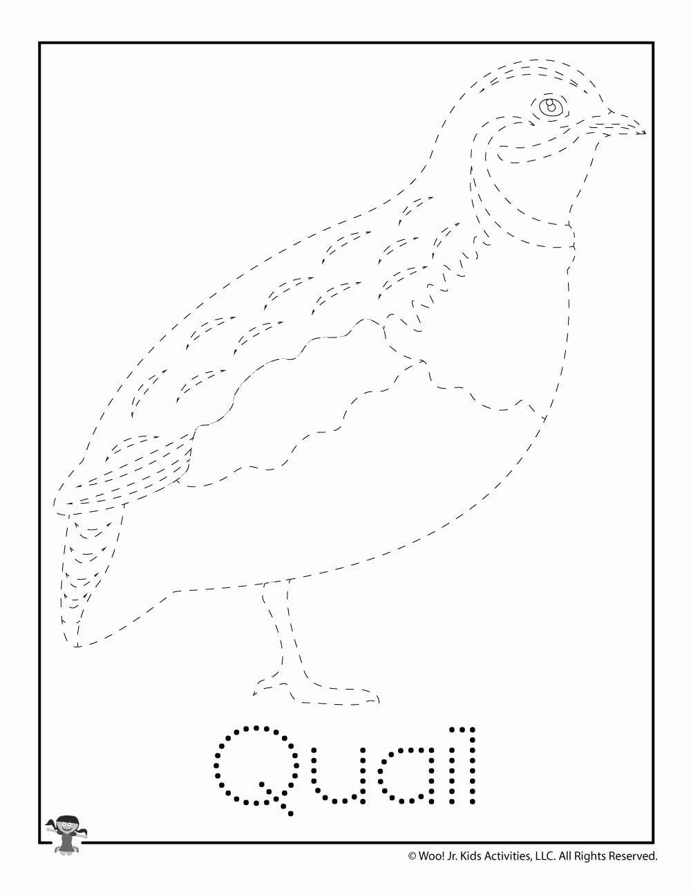 Quail Worksheets for Preschoolers Lovely Q is for Quail Word Tracing