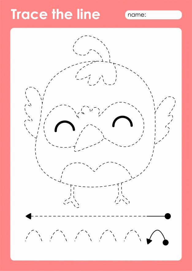 Quail Worksheets for Preschoolers Printable Quail Tracing Lines Preschool Worksheet for Kids for