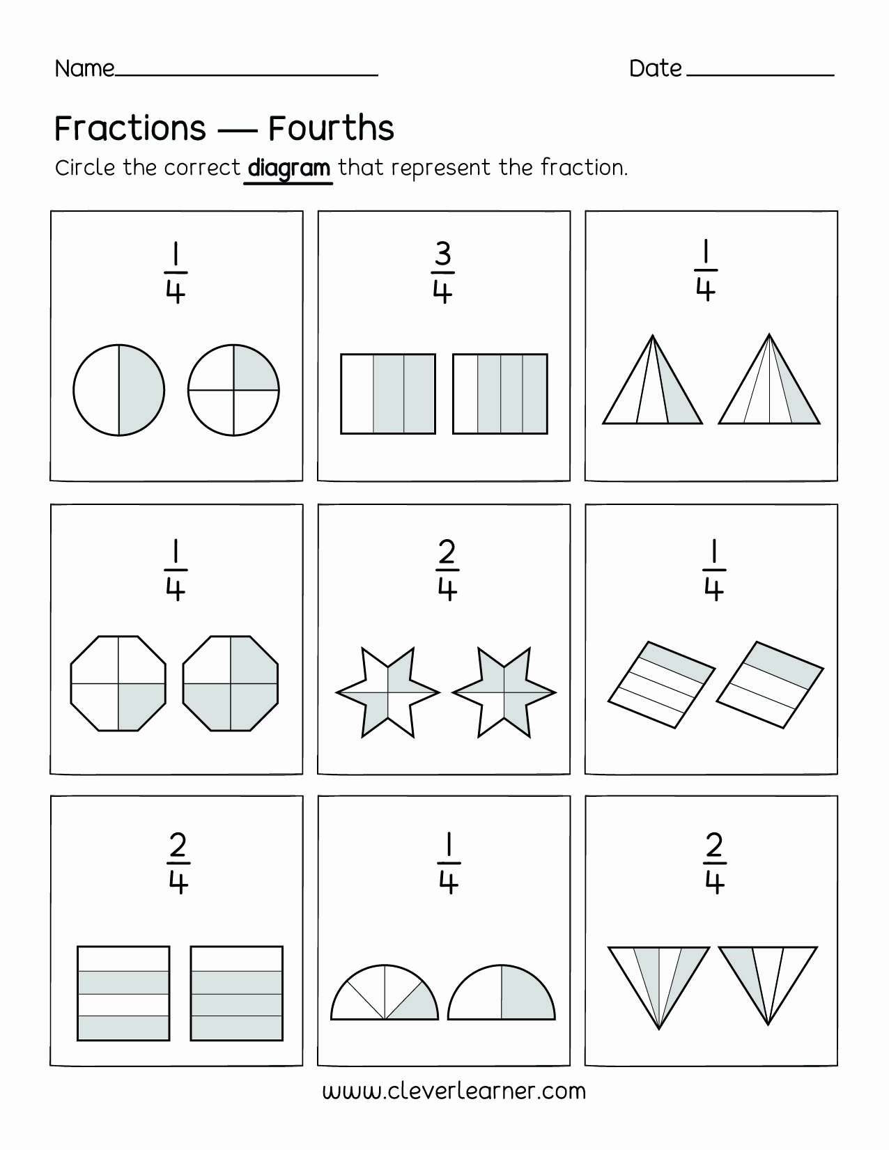Quarter Worksheets for Preschoolers Best Of Coloring Fraction Sheets Excelent Fractions Quarters Fun