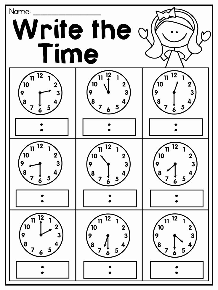 Quarter Worksheets for Preschoolers Kids First Grade Time Worksheets Hour Half Hour & Quarter Hour