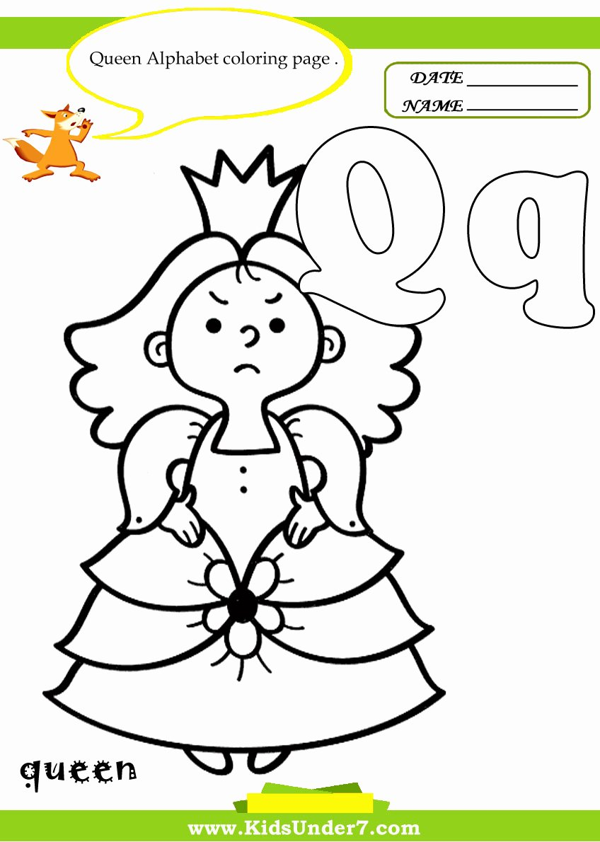 Queen Worksheets for Preschoolers Fresh Kids Under 7 Letter Q Worksheets and Coloring Pages