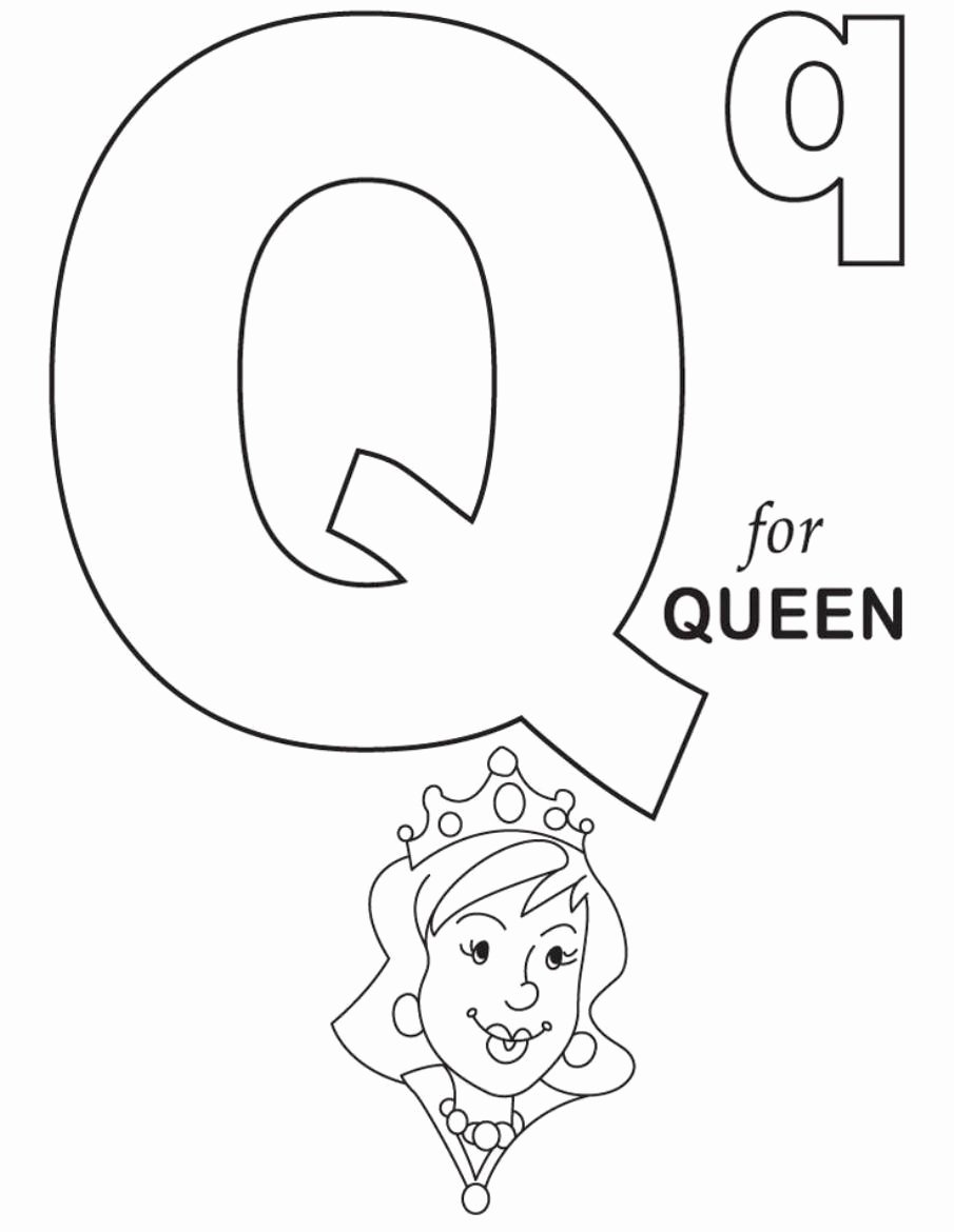 Queen Worksheets for Preschoolers top Q is for Queen Alphabet Coloring Pages