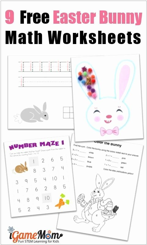 Rabbit Printable Worksheets for Preschoolers Best Of 9 Free Bunny Math Printable Worksheets for Kids