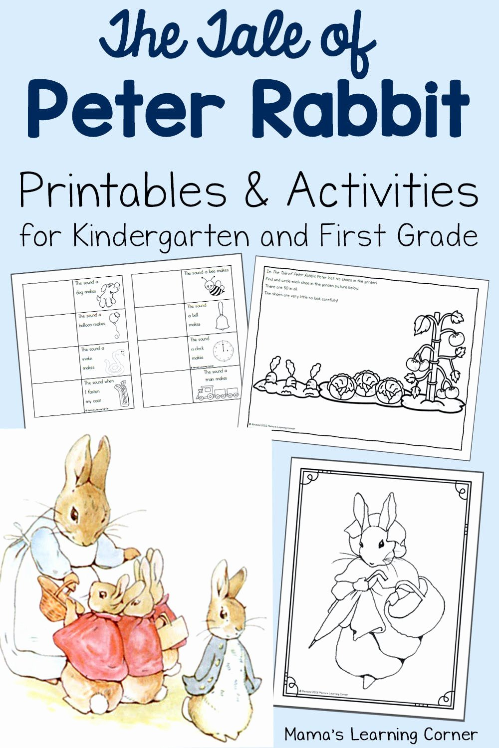 Rabbit Printable Worksheets for Preschoolers New the Tale Of Peter Rabbit Printable Activities Mamas