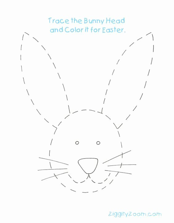 Rabbit Printable Worksheets for Preschoolers Printable Bunny Rabbit Tracing Worksheet Worksheets Paashaas Pasen