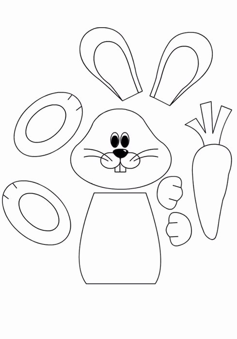 Rabbit Printable Worksheets for Preschoolers Printable Easter Preschool Worksheets Best Coloring for Kids Bunny Cut