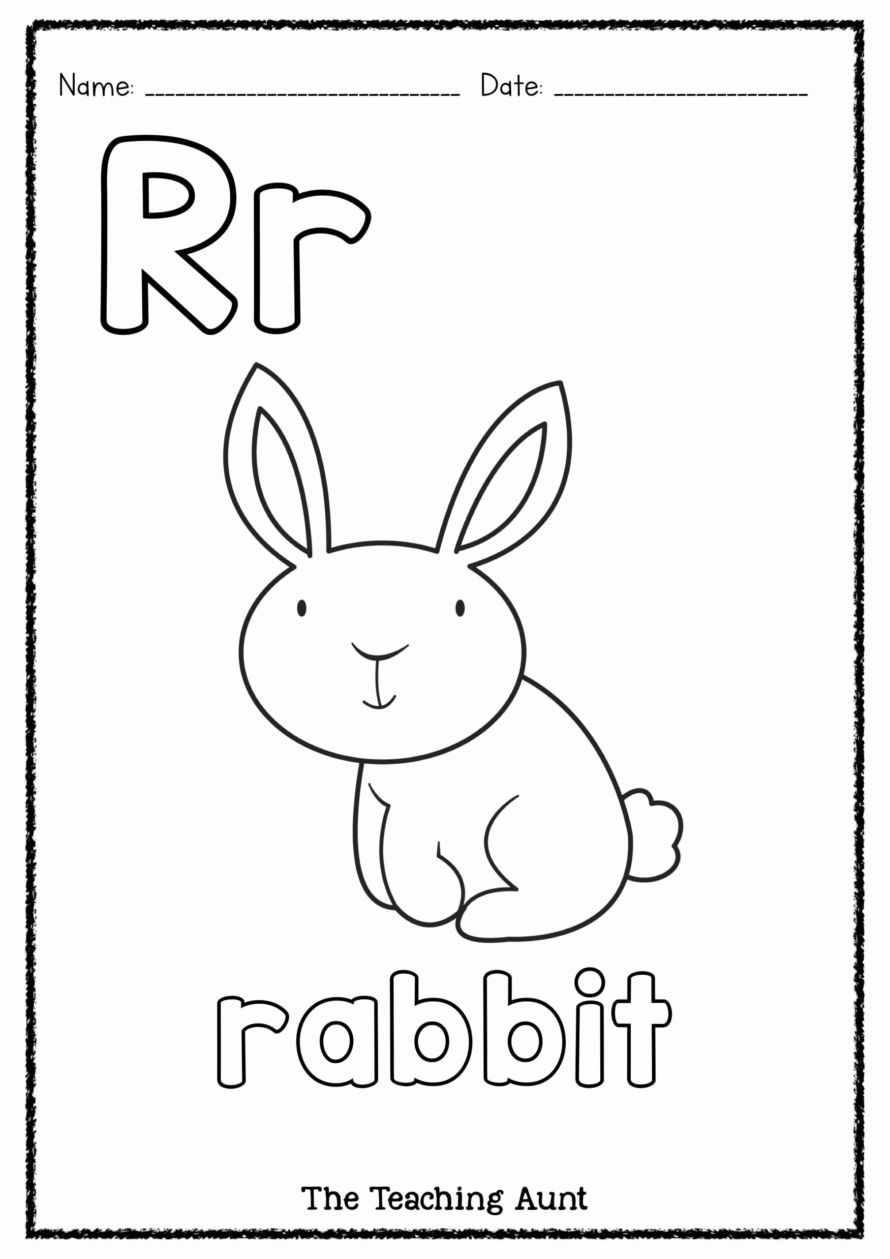 Rabbit Printable Worksheets for Preschoolers Printable is for Rabbit Art and Craft Colors Preschool Preschool