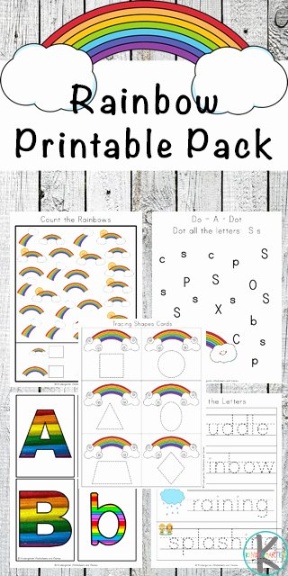 Rainbow Printable Pack