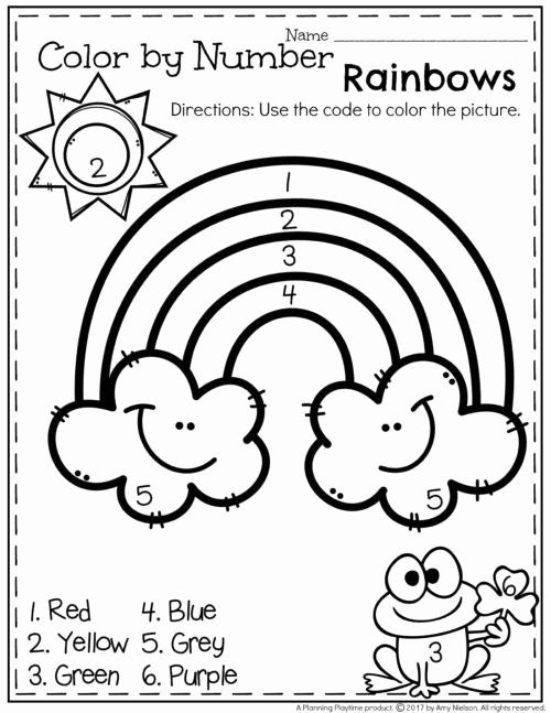 Rainbow Worksheets for Preschoolers Inspirational March Preschool Worksheets Planning Playtime