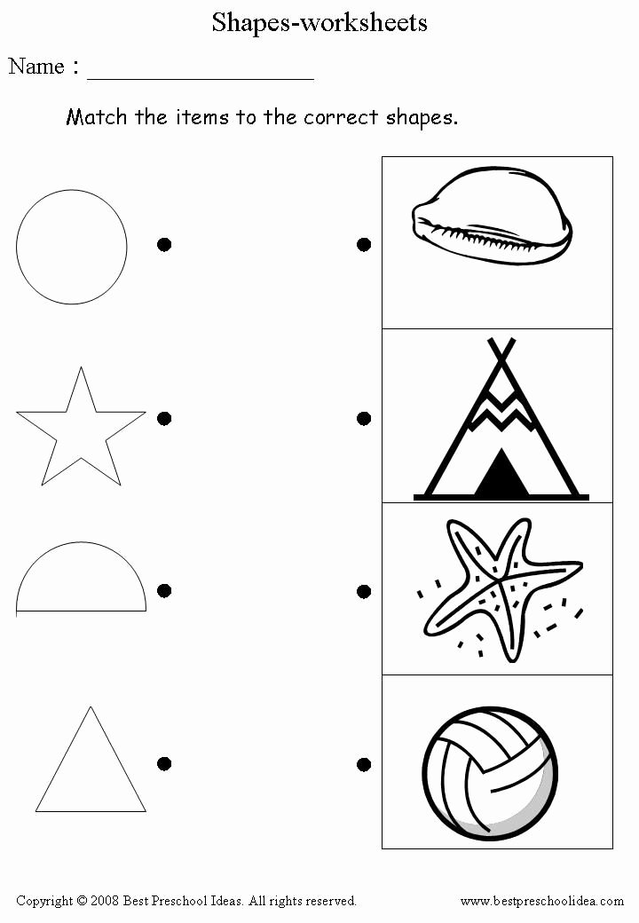 Readiness Worksheets for Preschoolers Best Of Shapes