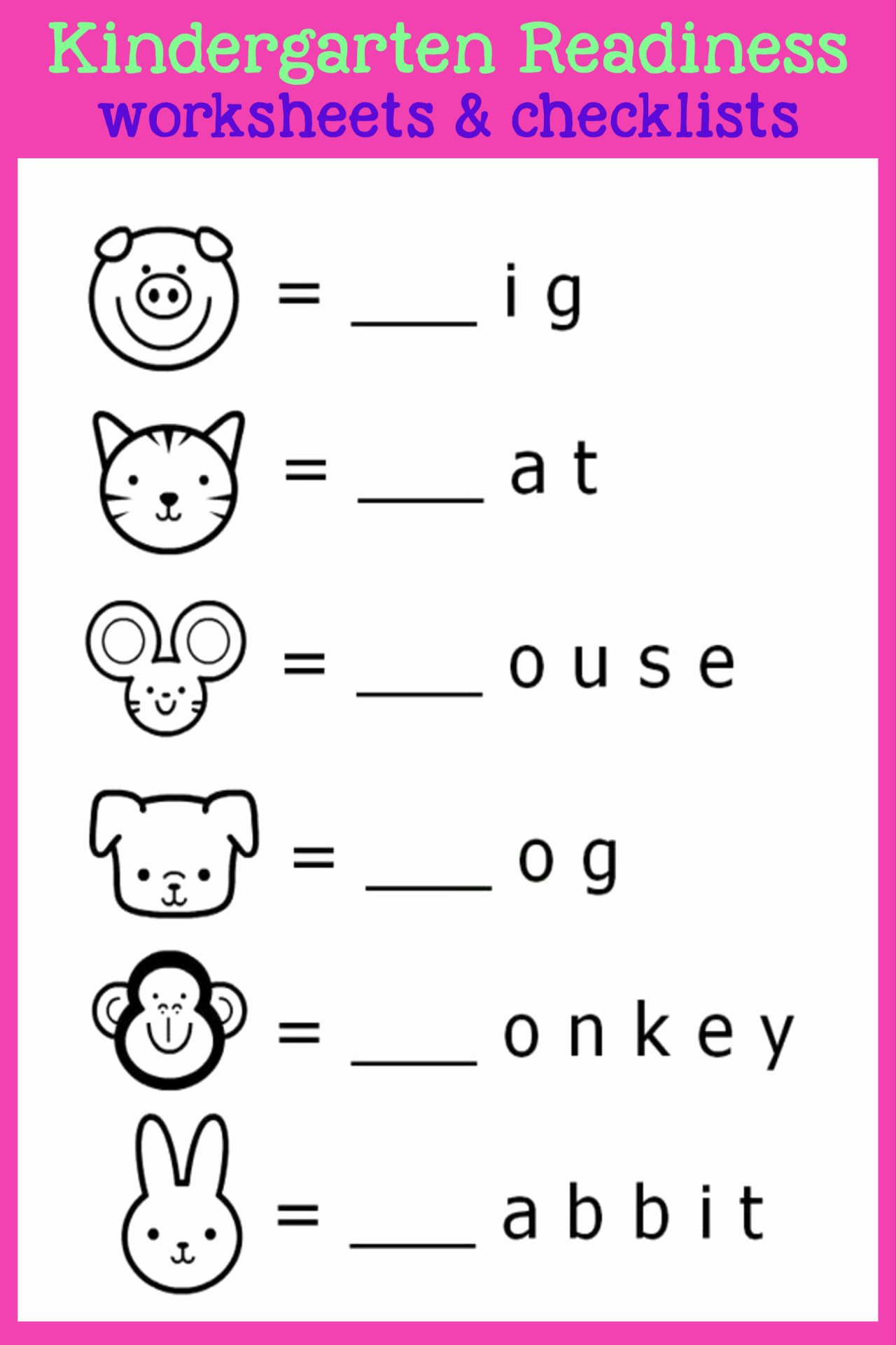 Readiness Worksheets for Preschoolers Free Kindergarten Readiness Checklists Free Printable Prep