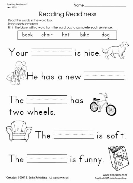 Reading Readiness Worksheets for Preschoolers Kids Reading Readiness Worksheet 2