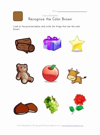 Recognizing Colors Worksheets for Preschoolers Free Color Worksheet In 2020
