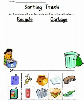 Recycling Worksheets for Preschoolers Kids Reduce Reuse Recycle Lessons Tes Teach