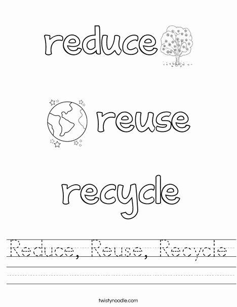 Recycling Worksheets for Preschoolers Kids Reduce Reuse Recycle Worksheet