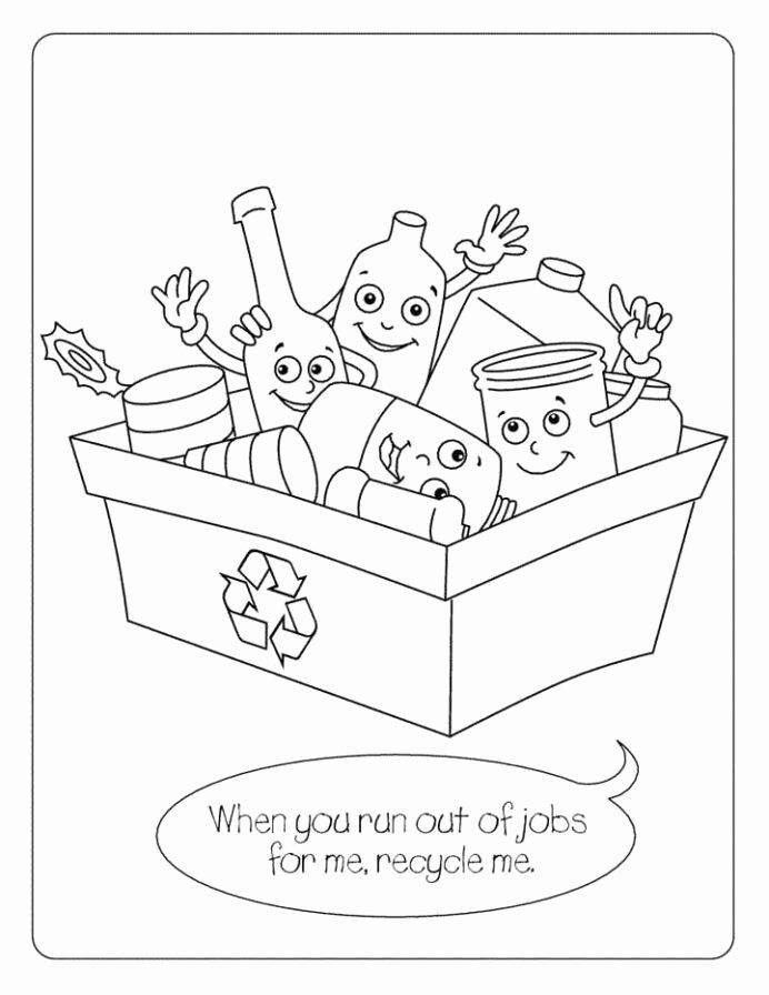 Recycling Worksheets for Preschoolers Printable Recycling Coloring for Kids Free Printable Problem solver