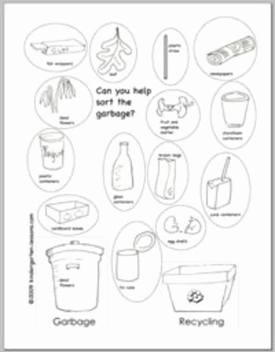 Recycling Worksheets for Preschoolers Printable Recycling Worksheets for Kids